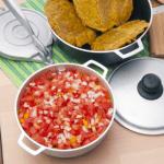 Cocina con imusa hogao