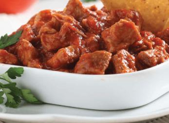 Carne guisada con puré de papas
