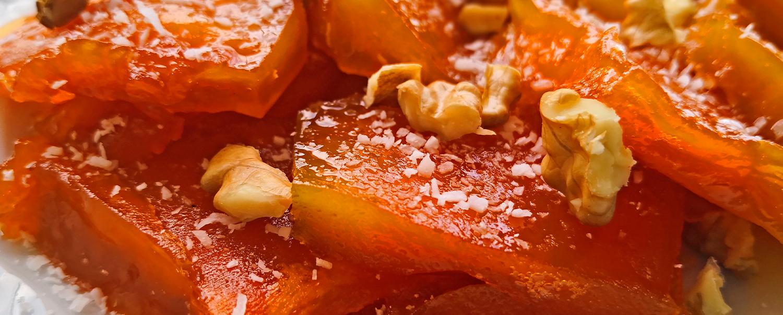Dulce de papaya verde y chips de arracacha dulce en tu sartén Triforce de Imusa