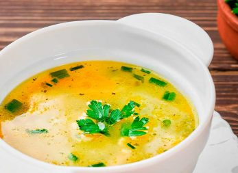 Sopa de pollo en la licuadora Infinyforce de Imusa