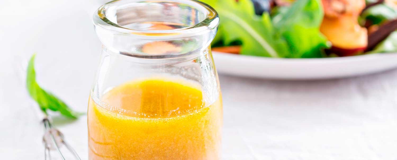Vinagreta de miel y naranja con  la licuadora Click & Mix