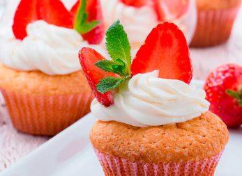 Cupcake de fresas en tu licuadora Click & Mix