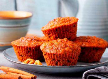 Muffins de canela y ruibarbo en tu licuadora Click & Mix