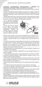 Manual de usuario Imusa
