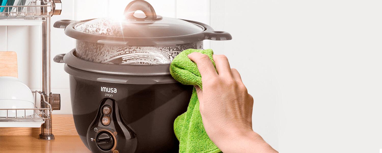 ¿Cómo limpiar correctamente la olla arrocera de Imusa?