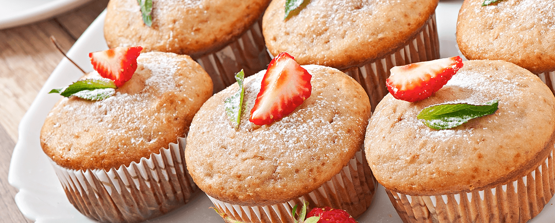 Cupcake de fresas